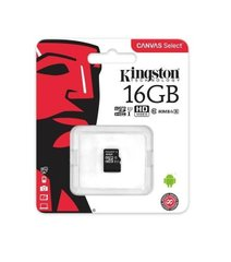 Карта памяти Kingston MicroSDHC 16GB UHS-I A1 (Class 10)